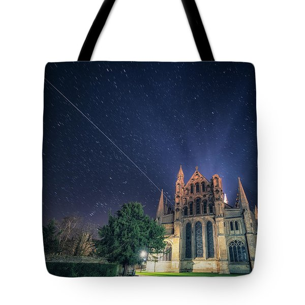 Iss Over Ely Cathedral Tote Bag