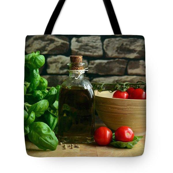Italian Ingredients Tote Bag