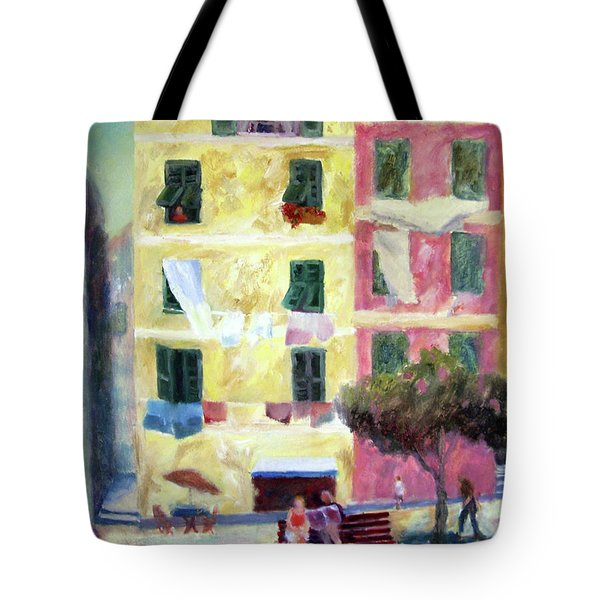 Italian Piazza With Laundry Tote Bag