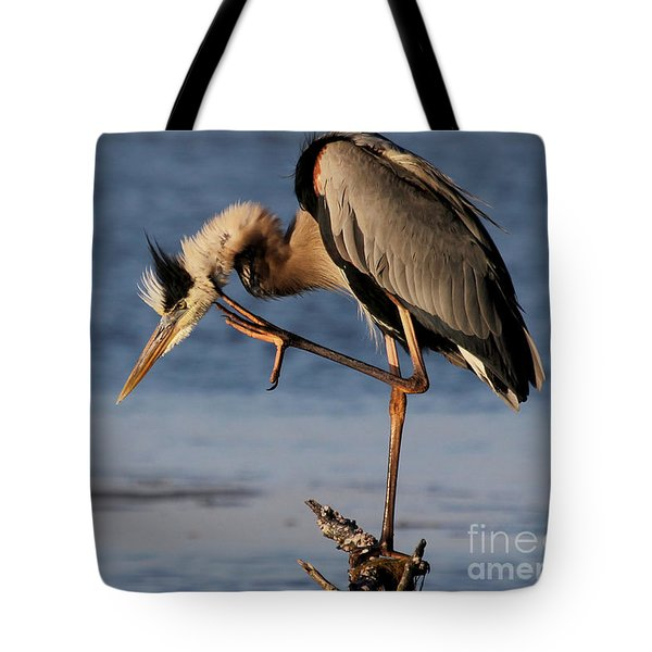 Itchy - Great Blue Heron Tote Bag