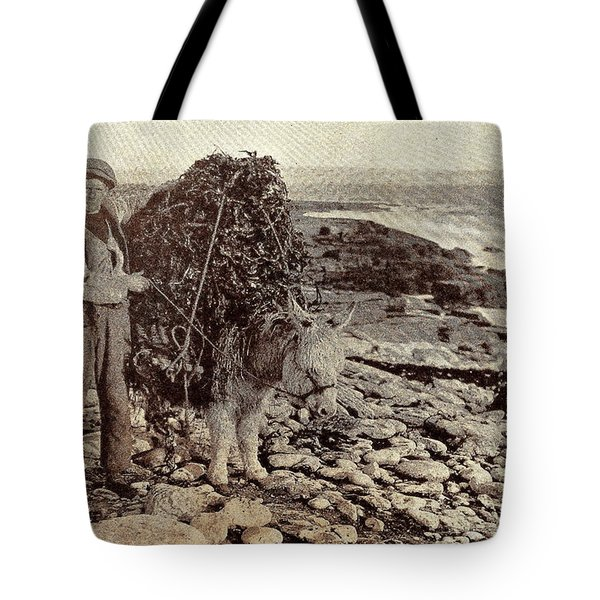 Tote Bag featuring the painting Its A Long Long Way To America by Val Byrne