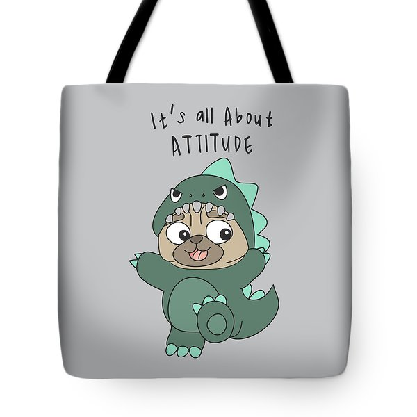 It's All About Attitude - Baby Room Nursery Art Poster Print Tote Bag