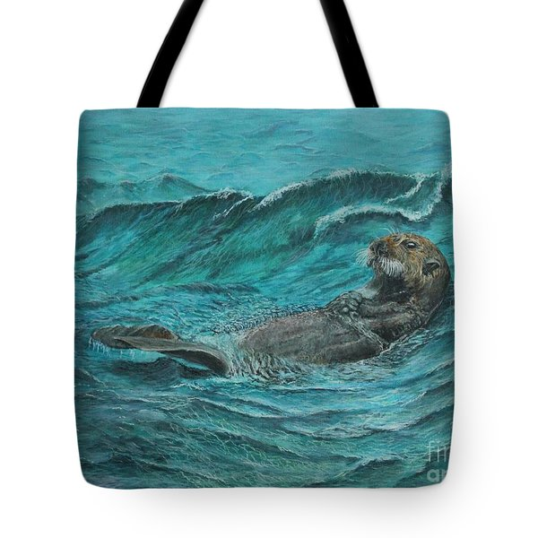 It's My Otter Day Off.....sea Otter Tote Bag