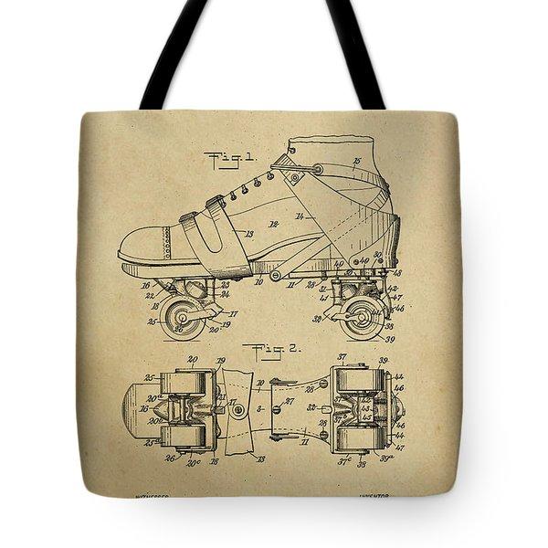 J. L. Plimpton, Roller Skate, Patented Dec.8,1908. Tote Bag