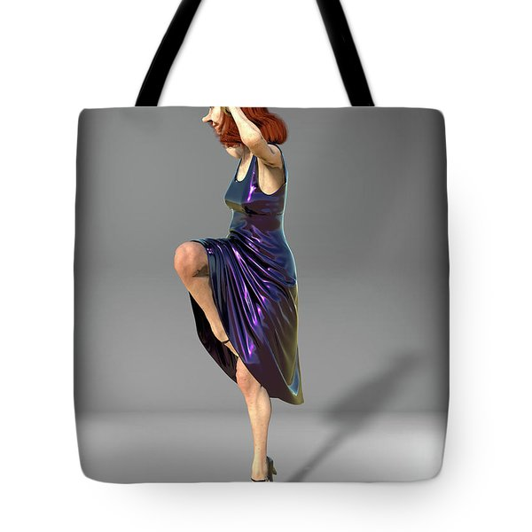 Jacinta In Navy Blue Tote Bag