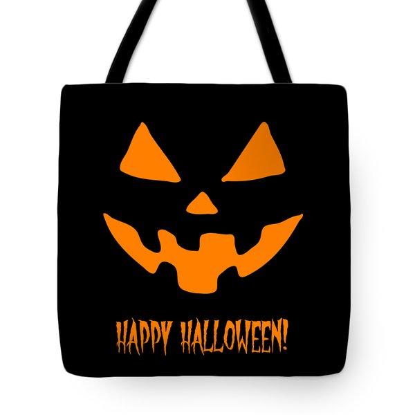 Jackolantern Happy Halloween Pumpkin Tote Bag