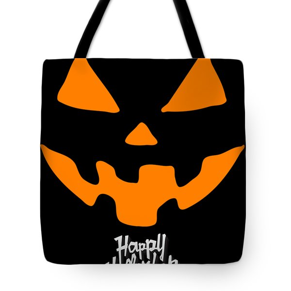 Jackolantern Pumpkin Happy Halloween Tote Bag