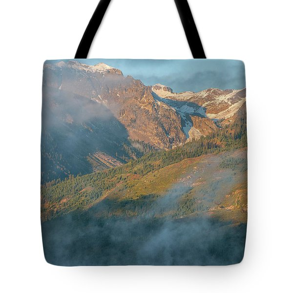 Tote Bag featuring the photograph Jackson Lake Mist by Matthew Irvin