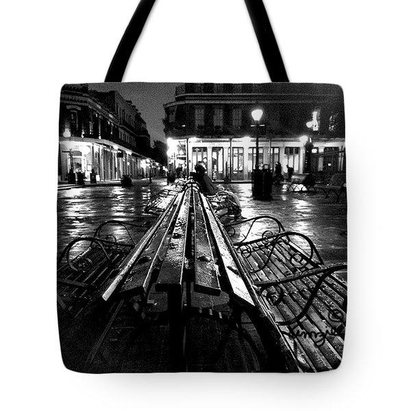 Jackson Square In The Rain Tote Bag