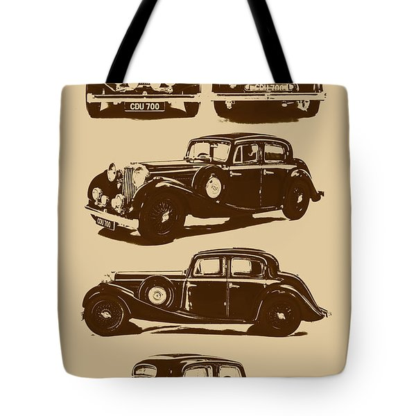 Jaguar Mark Iv Ss 2.5 Saloon Tote Bag