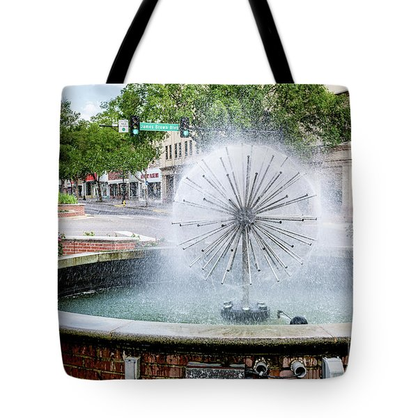 James Brown Blvd Fountain - Augusta Ga Tote Bag