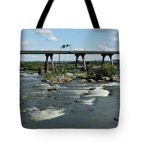 James River Rapids Tote Bag