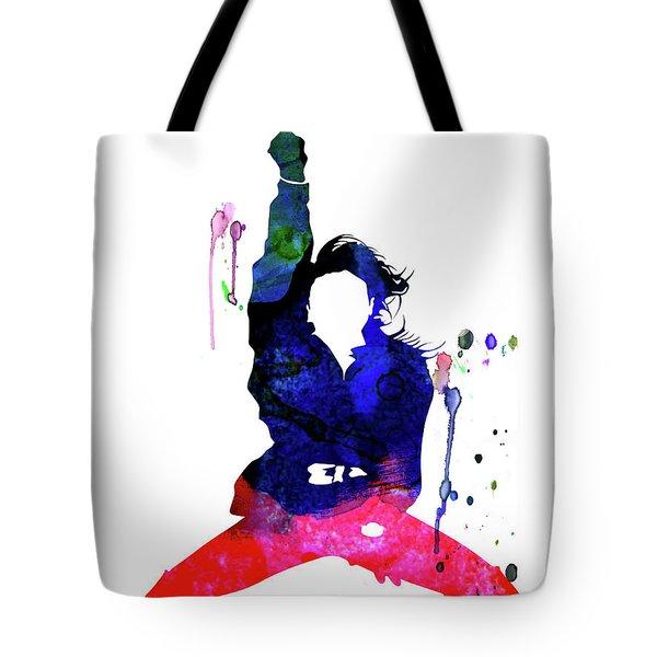 Janet Jackson Watercolor Tote Bag