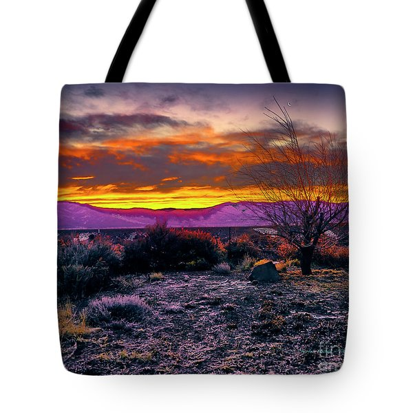 January Sunrise Tote Bag