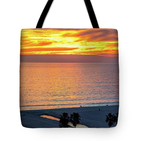 January Sunset - Vertirama Tote Bag