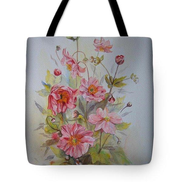 Japanese Anemones Tote Bag