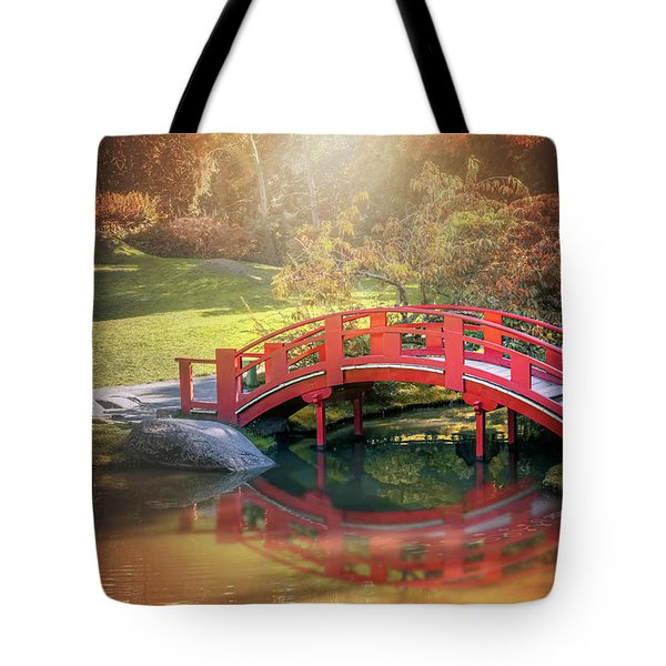 Japanese Garden And Bridge Toulouse France  Tote Bag
