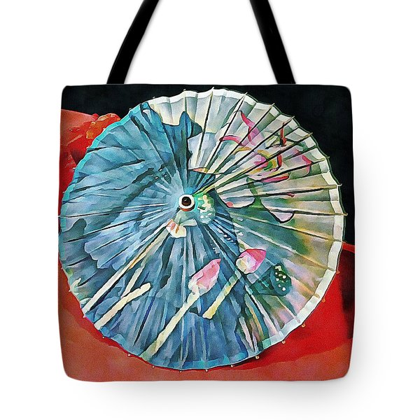Tote Bag featuring the photograph Japanese Parasol Study 1 by Dorothy Berry-Lound