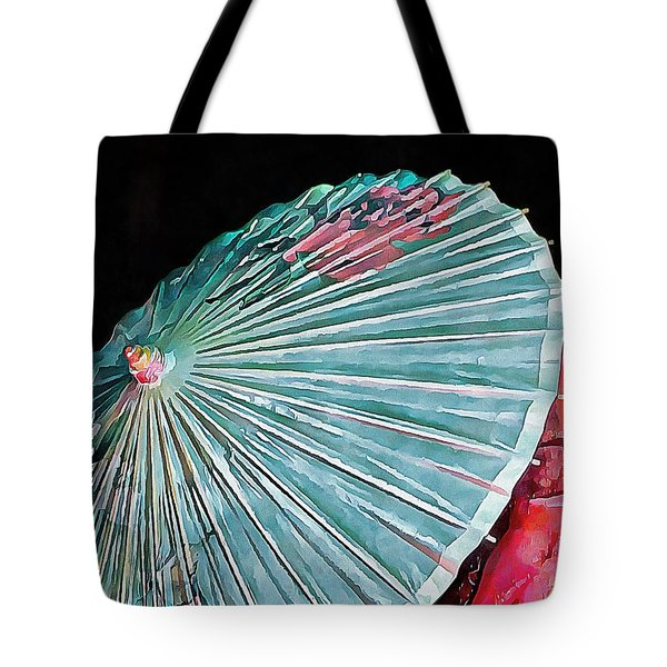 Tote Bag featuring the photograph Japanese Parasol Study 2 by Dorothy Berry-Lound