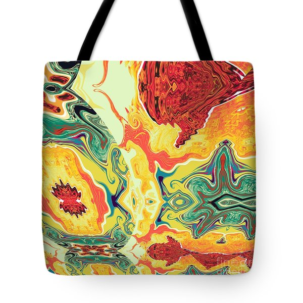 Tote Bag featuring the digital art Jar by A z Mami