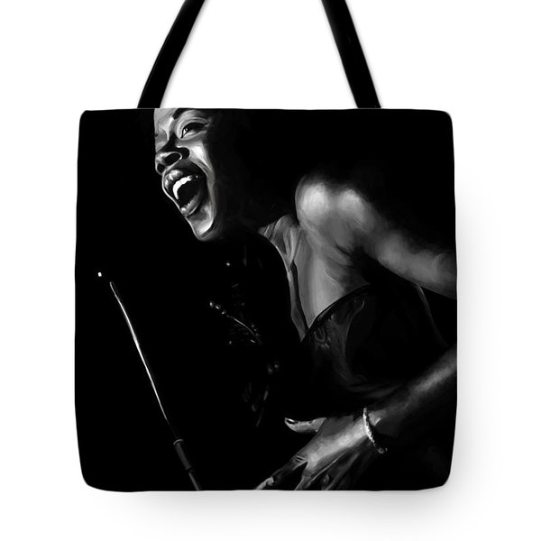 Jazz Woman Tote Bag