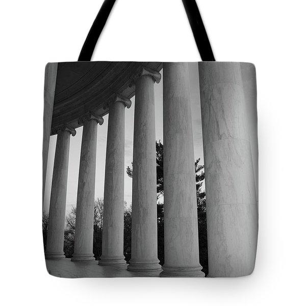 Jefferson Memorial In Black And White Tote Bag