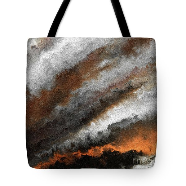 Jeremiah 20 9 Fire In My Heart Tote Bag