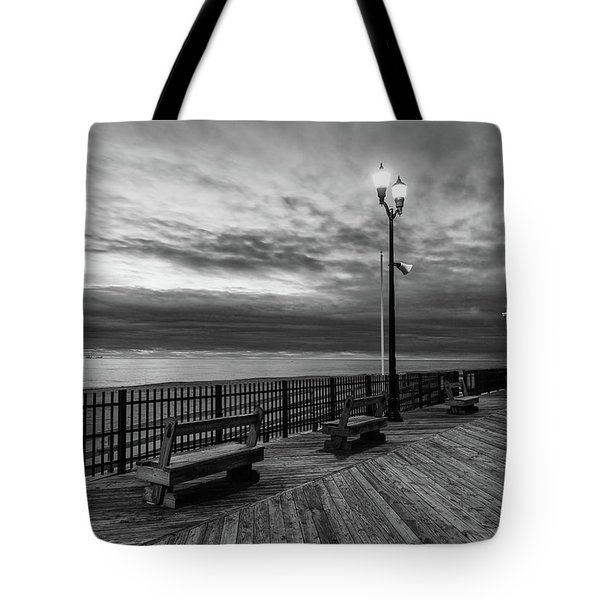 Jersey Shore In Winter Tote Bag
