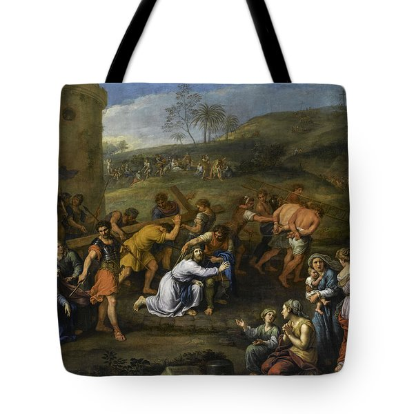 Jesus On The Road To Calvary, 1684 Tote Bag