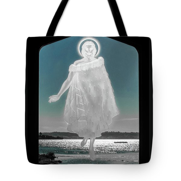 Tote Bag featuring the photograph Jesus Walks On The Water by Mark Dodd