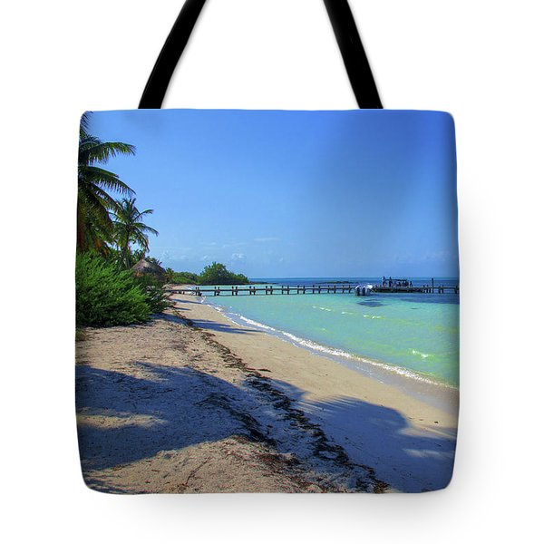 Jetty On Isla Contoy Tote Bag