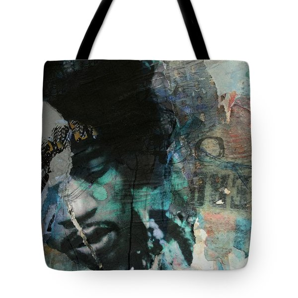 Jimi Hendrix Collage Tote Bag