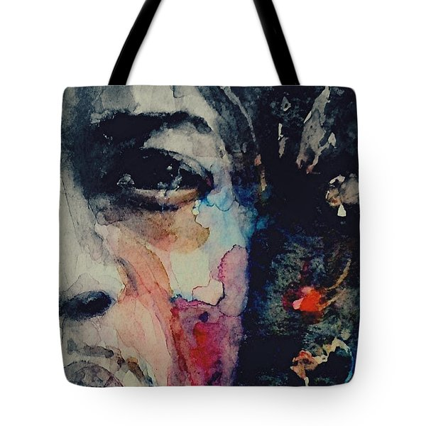 Jimi Hendrix - Somewhere A Queen Is Weeping Somewhere A King Has No Wife  Tote Bag