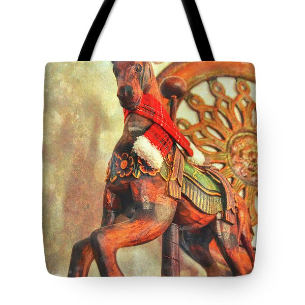 Jingle Horse Tote Bag