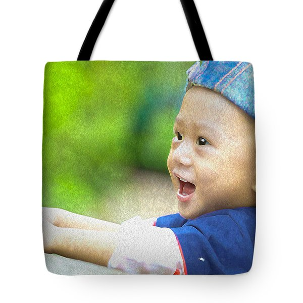 Tote Bag featuring the painting Joeseph by Harry Warrick