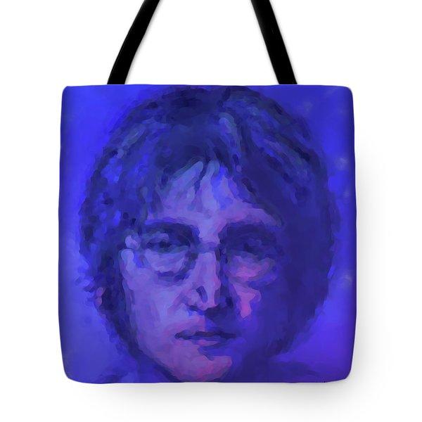 John Lennon Study In Blue Tote Bag