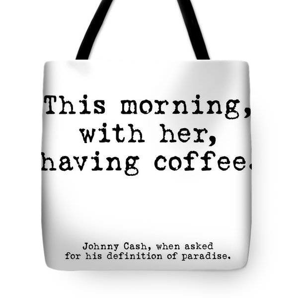 Johnny Cash Coffee White Tote Bag