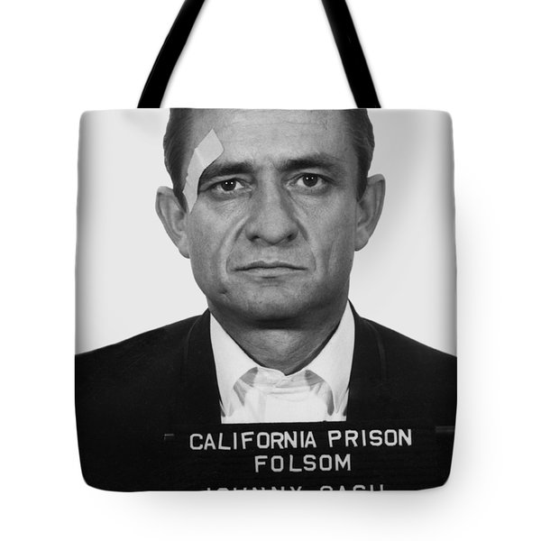 Johnny Cash Folsom Prison Mugshot 1966 - T-shirt Tote Bag
