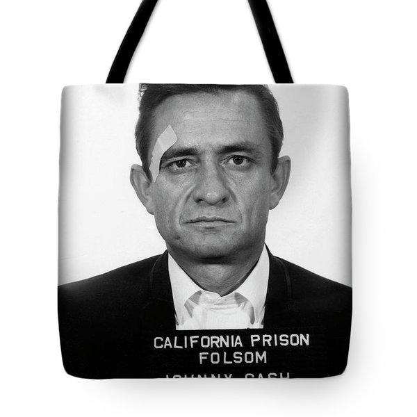 Johnny Cash Mugshot Tote Bag