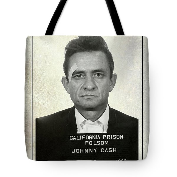Johnny Cash Wanted Poster Tote Bag