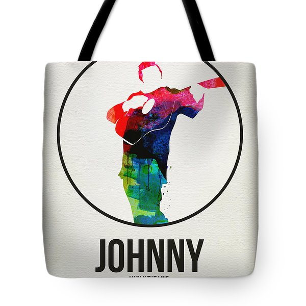 Johnny Cash Watercolor Tote Bag