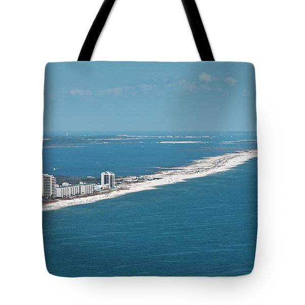 Tote Bag featuring the photograph Johnson Beach by Gulf Coast Aerials -