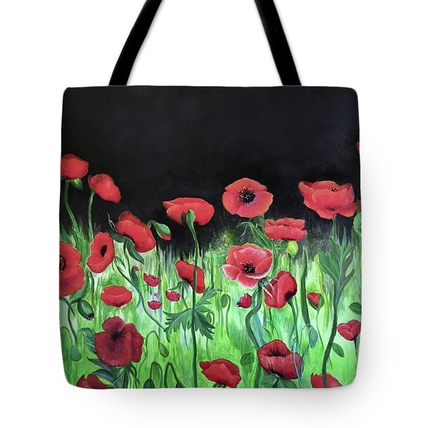 Jon's Poppies Tote Bag