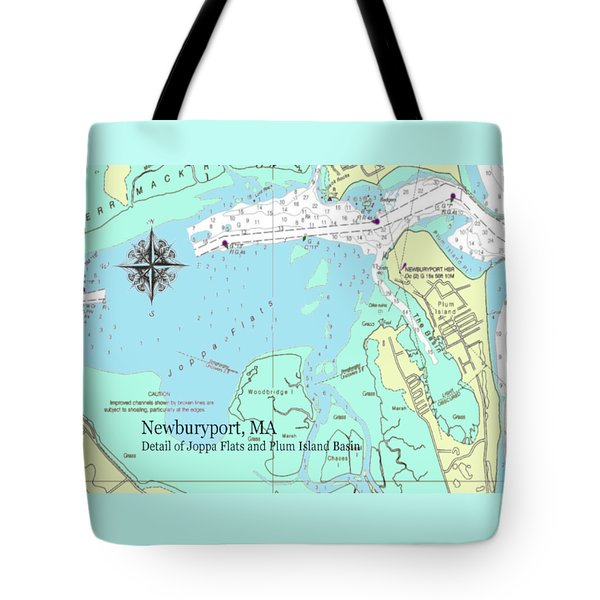 Joppa Flats Map Tote Bag