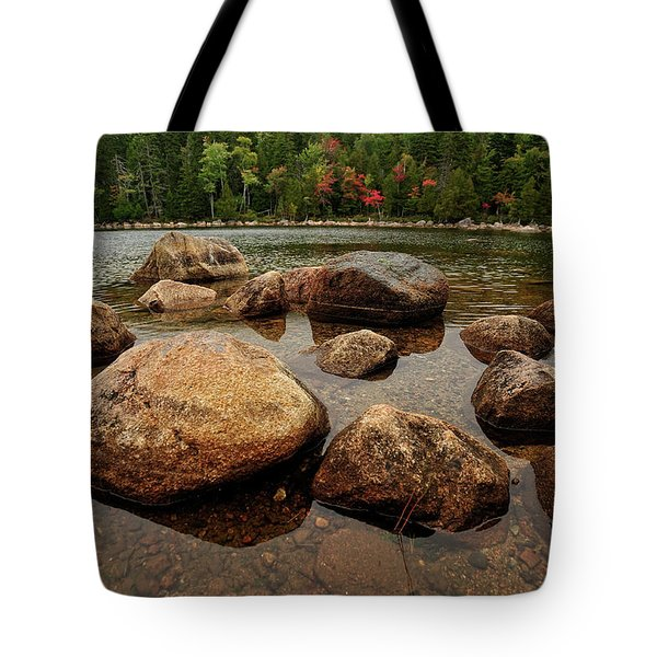 Jordon Pond Boulders Tote Bag