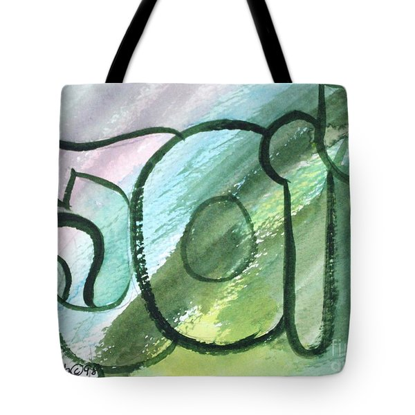 Tote Bag featuring the painting Josepha Yosefa Nf1-47 by Hebrewletters Sl