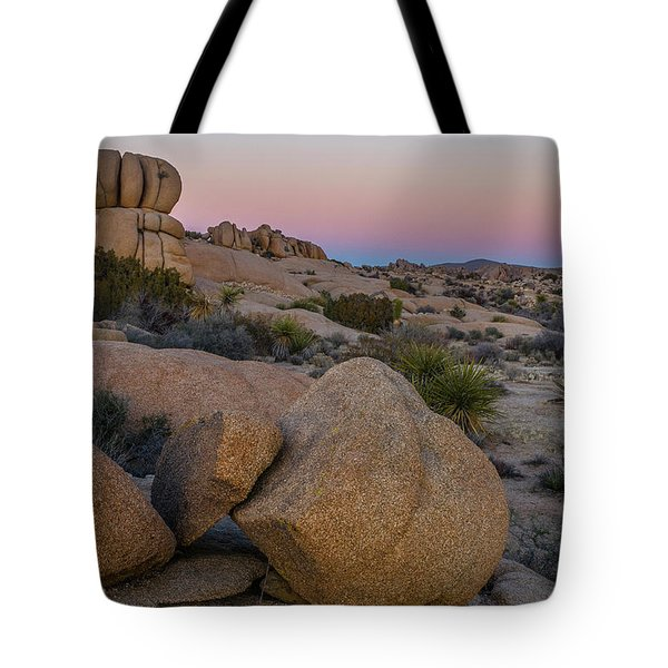 Tote Bag featuring the photograph Joshua Tree On The Rocks by Matthew Irvin