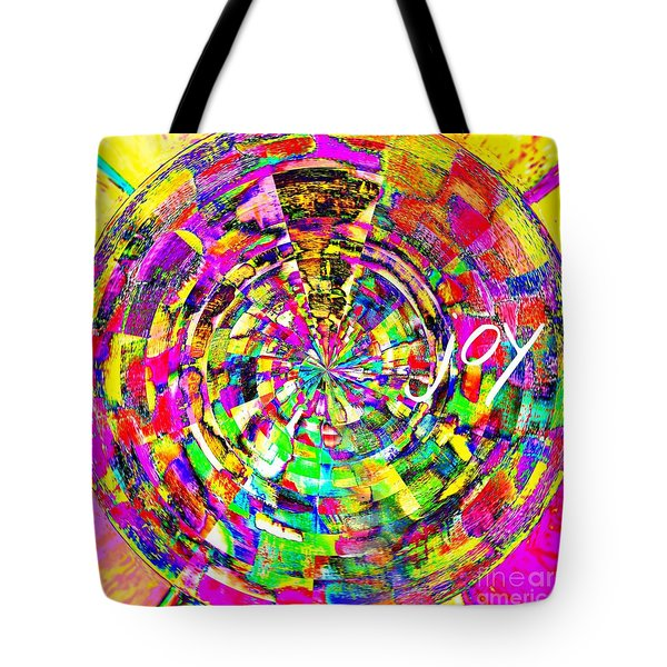 Tote Bag featuring the mixed media Joy by Jessica Eli
