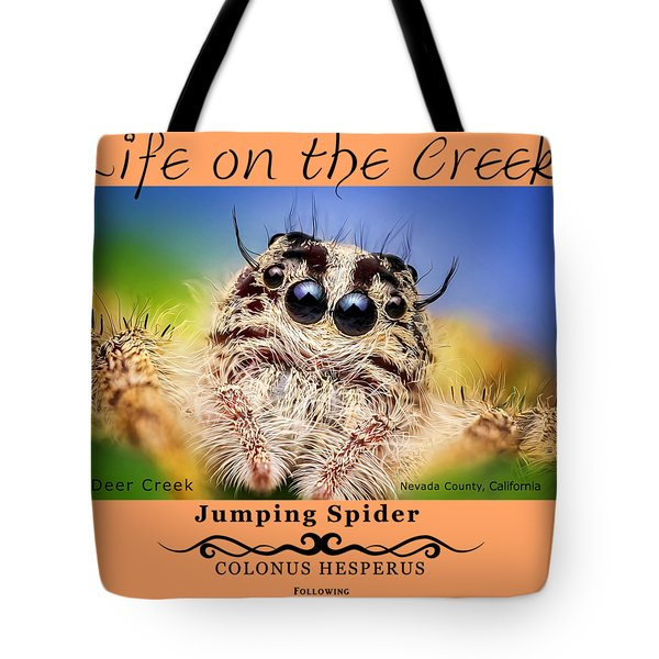 Jumping Spider Colonus Hesperus Tote Bag