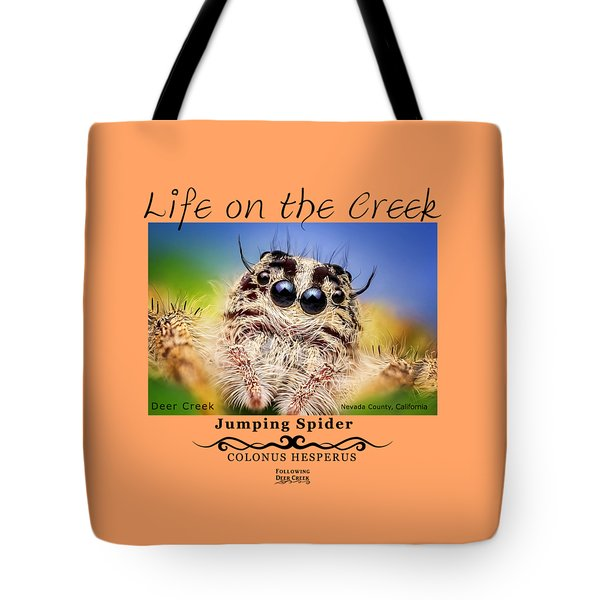 Jumping Spider Colonus Hesperus Tote Bag
